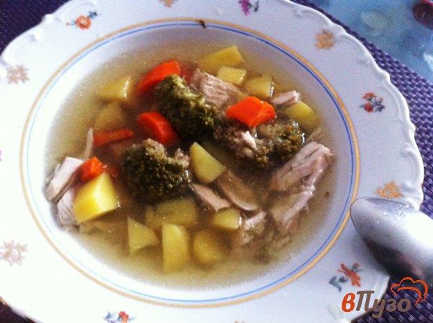 фото рецепта: Суп куриный с брокколи