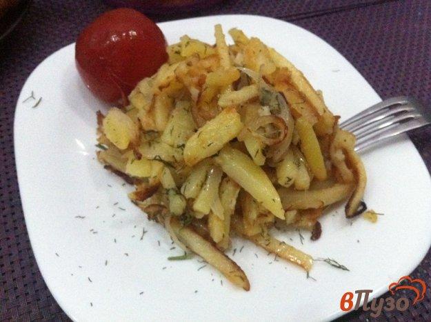 фото рецепта: Жаренный картофель на гарнир