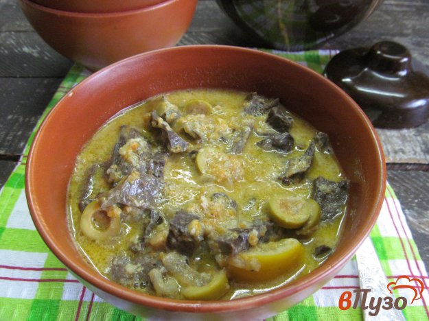 фото рецепта: Свиное легкое под соусом