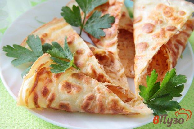 фото рецепта: Сметанные уголочки с сыром