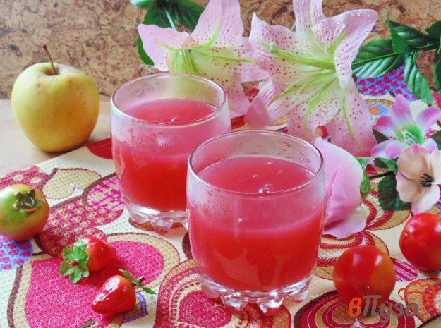 фото рецепта: Кисель из клубники с яблоками