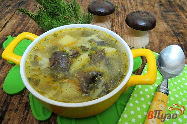 фото рецепта: Суп постный с грибами и лапшой