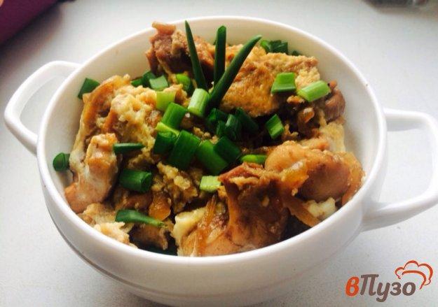 фото рецепта: Курица оякодон по-японски