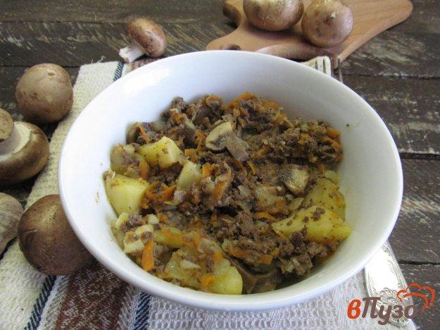 фото рецепта: Рагу из свиного легкого с грибами и овощами
