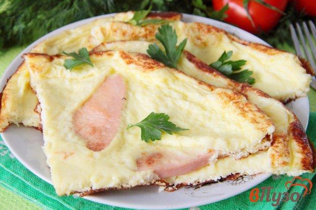 фото рецепта: Омлет с колбасой