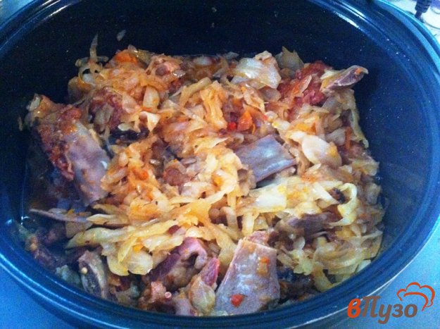 фото рецепта: Бигос с грудинкой и копчеными ребрышками
