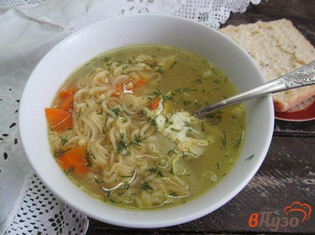 фото рецепта: Суп с яйцом и мивиной
