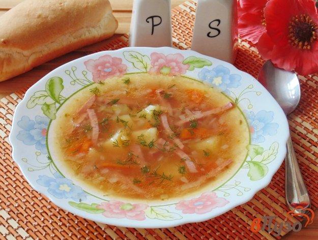фото рецепта: Рассольник с рисом и томатом