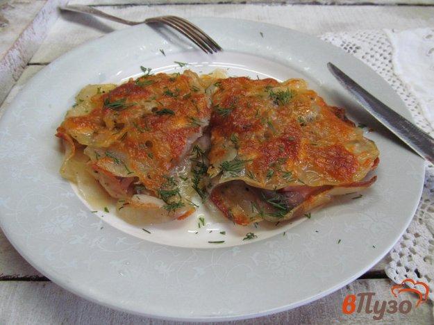 фото рецепта: Запеканка из картофеля с беконом под хрустящей корочкой