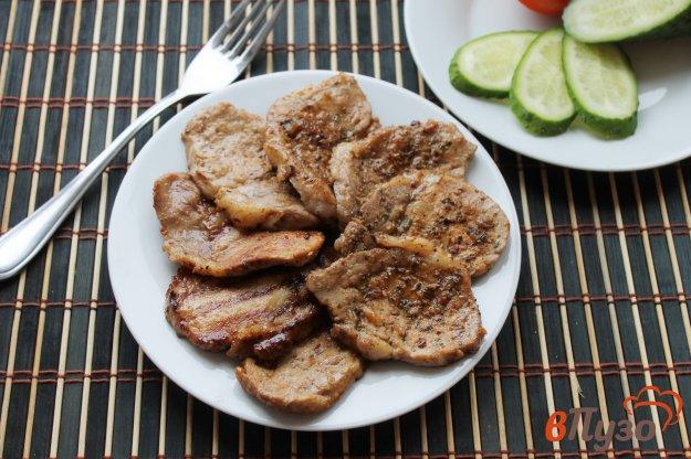 фото рецепта: Отбивные из свинины маринованные в соевом соусе