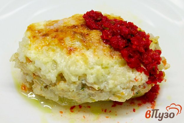 фото рецепта: Сладкий перец с индюшатиной и рисом в духовке