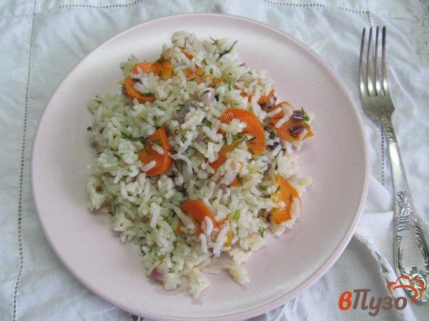 фото рецепта: Ароматный рис из мультиварки с овощами
