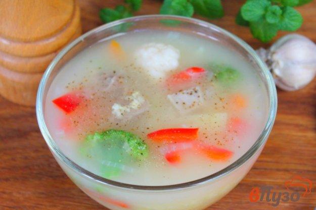 фото рецепта: Суп на мясном бульоне с овощами и пшеном