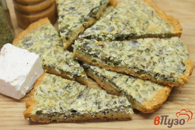фото рецепта: Пирог с яйцом, брынзой и зеленью