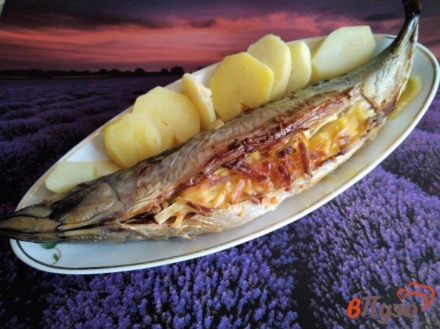фото рецепта: Скумбрия запеченная с сыром