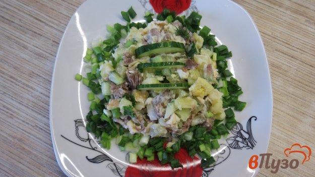фото рецепта: Салат мясной с яичными блинчиками