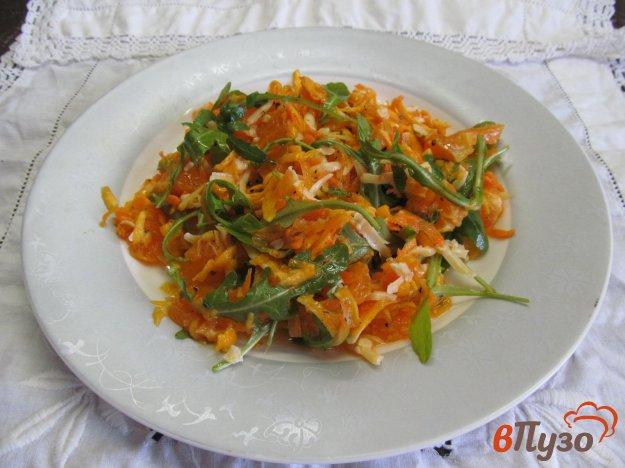 фото рецепта: Салат из мандарина с овощами и рукколой