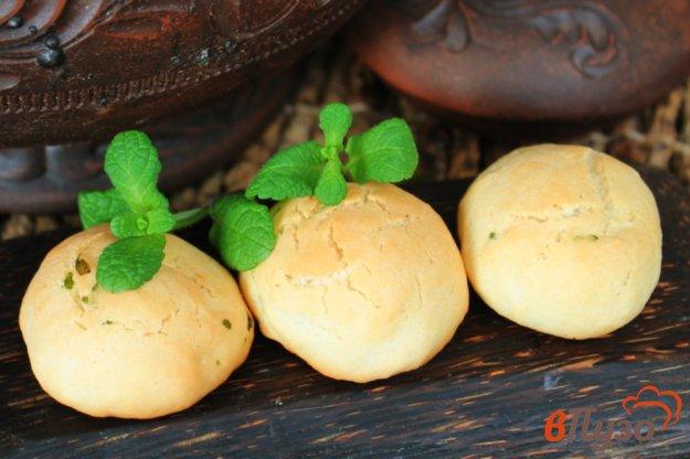 фото рецепта: Печенье на подсолнечном масле, с лимоном и мятой