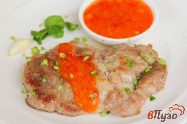 фото рецепта: Ошеек с кисло-сладким соусом из абрикос