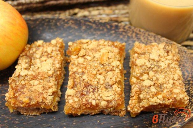 фото рецепта: Овсяный пирог крошка с начинкой из яблок и тыквы