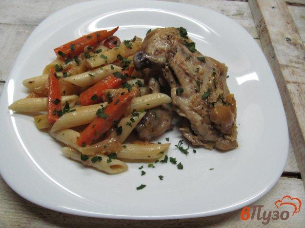 фото рецепта: Тушеная курица с овощами в мультиварке