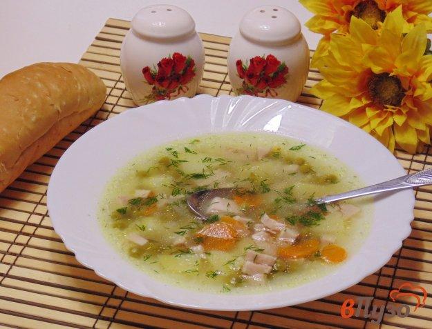фото рецепта: Суп с пшеном и ветчиной