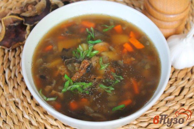 фото рецепта: Суп из чечевицы с сухими лесными грибами