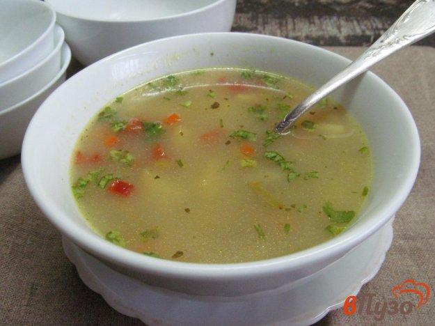 фото рецепта: Овощной суп с гречкой на молоке
