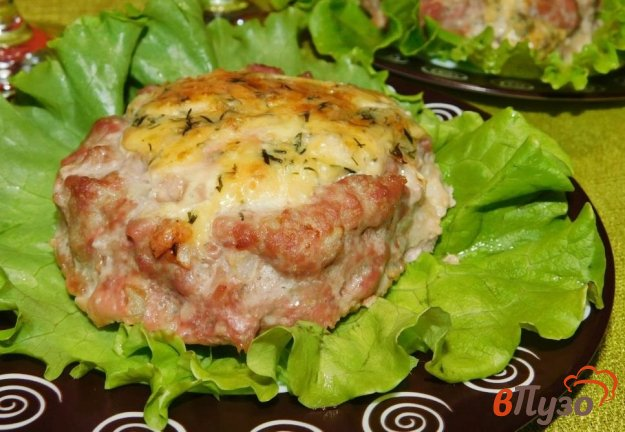 фото рецепта: Мясные корзиночки с сырной начинкой