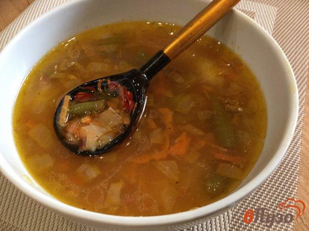 фото рецепта: Суп с рисом и спаржевой фасолью