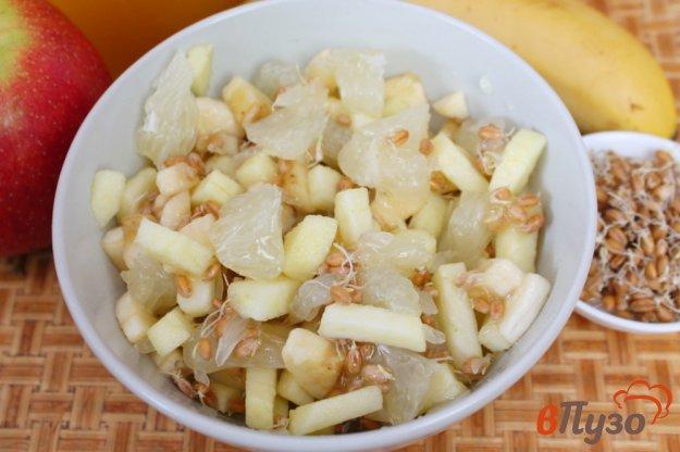 фото рецепта: Фруктовый салат с пророщенной пшеницей и медом