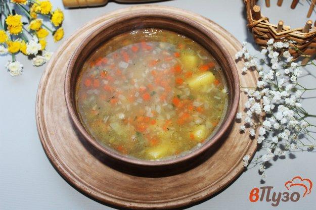 фото рецепта: Гороховый суп со свининой и копченой колбасой