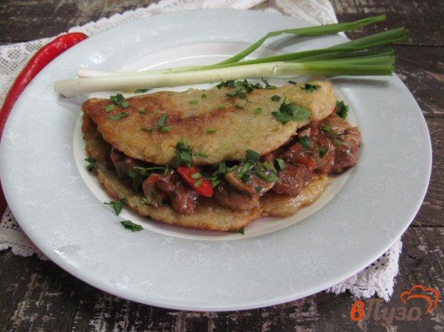 фото рецепта: Драник с мясом и овощами