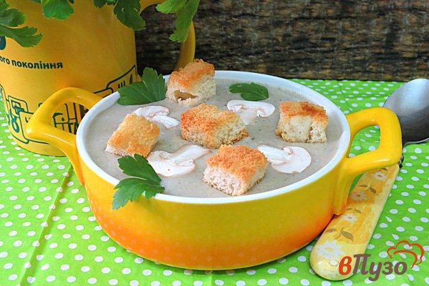 фото рецепта: Суп пюре с картофелем и грибами