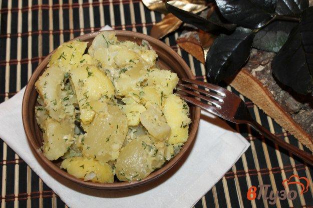фото рецепта: Картофель кусочками с твердым сыром, маслом и укропом