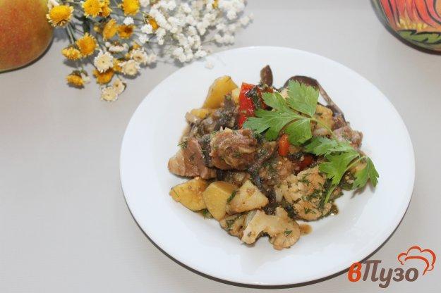фото рецепта: Рагу со свининой, картофелем и цветной капустой