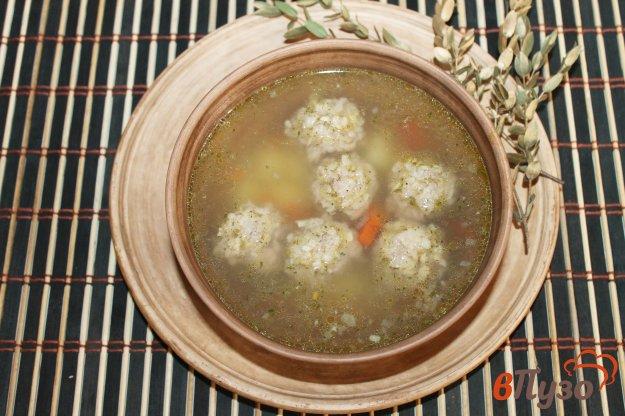 фото рецепта: Вермишелевый суп с фрикадельками из свиного фарша