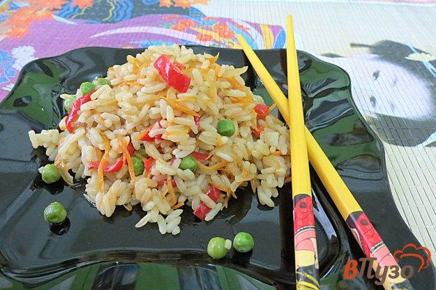 фото рецепта: Рис с овощами в соевом соусе