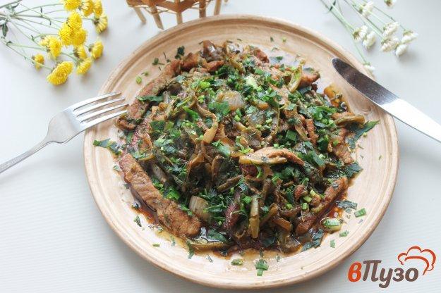 фото рецепта: Свинина тушеная с фасолью и шпинатом