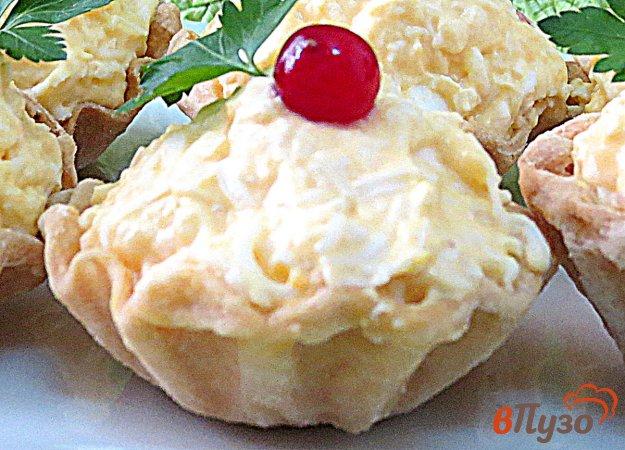 фото рецепта: Тарталетки с сырно-яичной начинкой