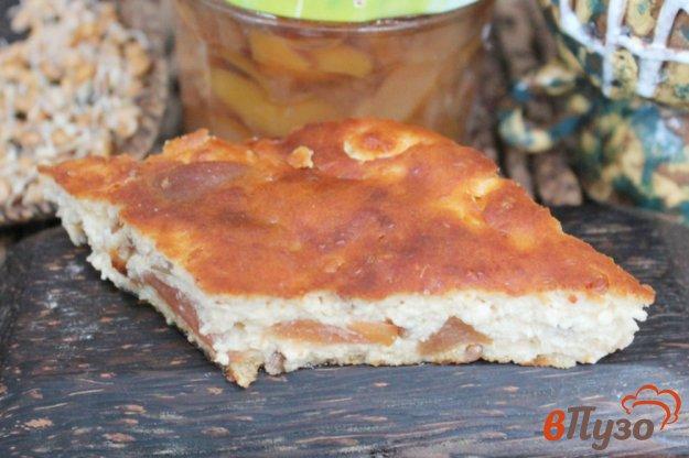 фото рецепта: Творожная запеканка со сладкой грушей и пророщенной пшеницей