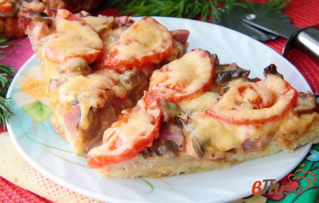 фото рецепта: Ленивая пицца на основе из батона
