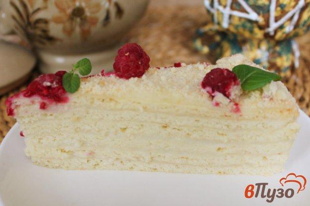 фото рецепта: Песочный торт с ванильным кремом