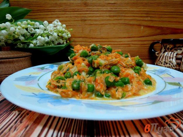 фото рецепта: Тушёная морковь с горошком