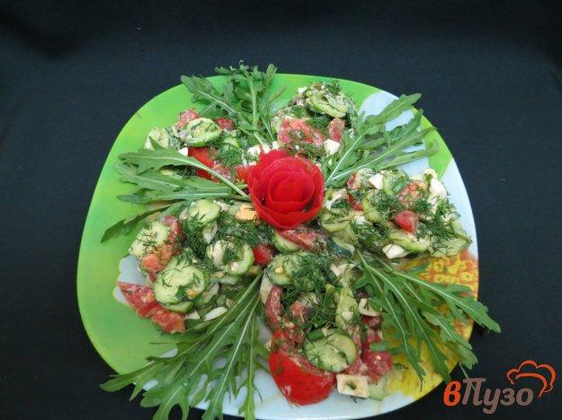 фото рецепта: Салат из овощей, яйца и руколлы