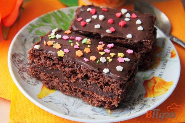 фото рецепта: Шоколадные пирожные с кремом