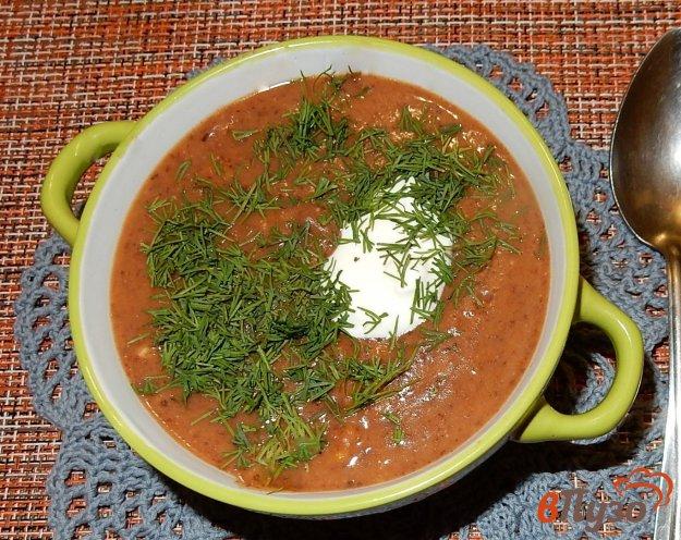фото рецепта: Фасолевый суп-пюре с колбасками