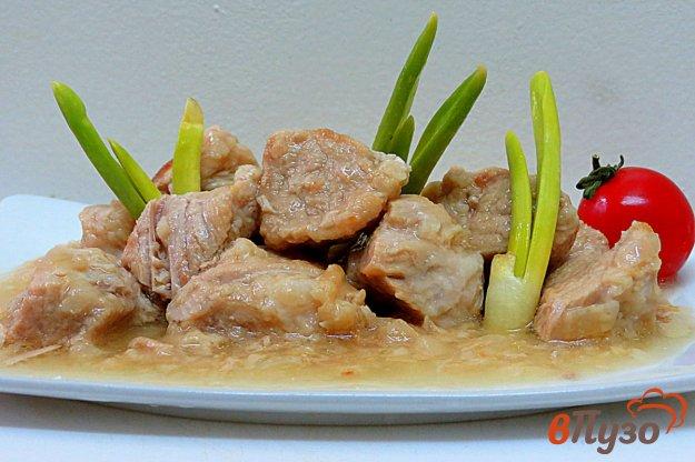 фото рецепта: Свинина тушёная с луком