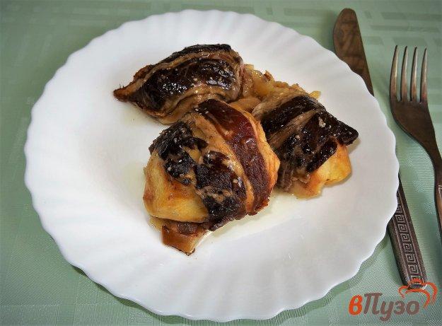 фото рецепта: Картофель в беконе