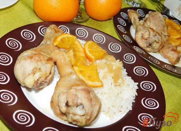 фото рецепта: Куриные ножки с соевым соусом и апельсинами